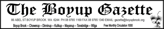 The Boyup Gazette - Boyup Brook CRC